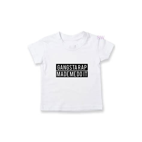 Tshirt Gangsta Rap Basetafany Name gangsta rap made me do it t shirt eminem t shirt