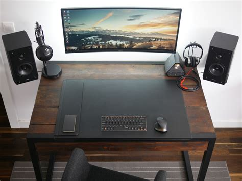 gaming desk designs minimalistic wooden gaming desk for your room