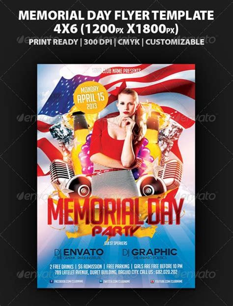 graphicriver flyer psd graphicriver memorial day party flyer