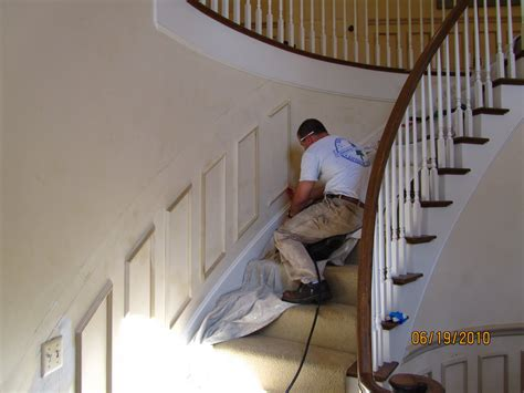 how to put up a chair rail installing molding to a curved wall