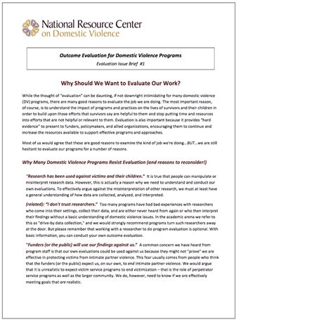 domestic violence risk assessment template domestic violence evidence projectevaluation tools