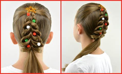 christmas tree pull through braid christmas hair