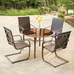 hton bay santa 5 wicker outdoor dining set