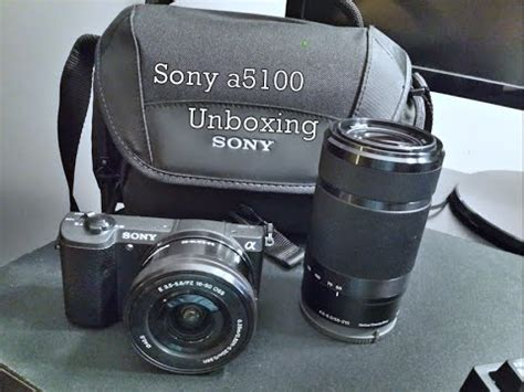 sony a5100 unboxing with 55 210mm & 16 50mm lens youtube