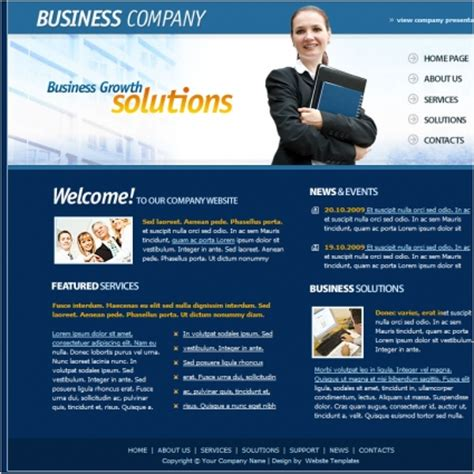 free website templates for business in html business company template free website templates in css