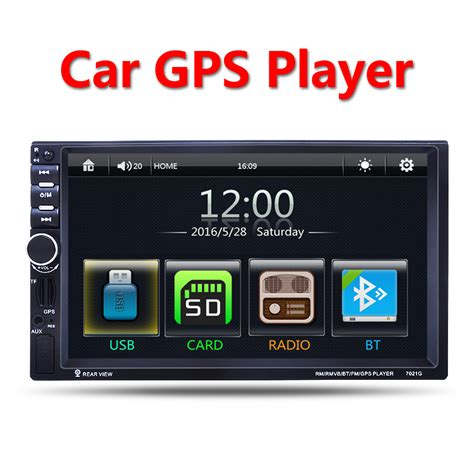 Mp5 Player Audio Car Bluetooth With Gps Canggih aliexpress buy 2 din car multimedia player gps navigation 7 hd bluetooth stereo radio fm