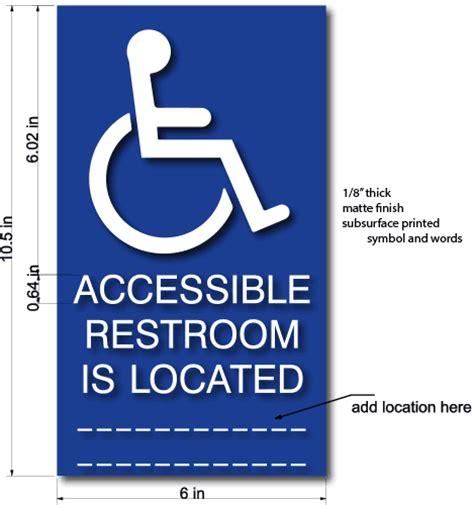 Handicap Bathroom Sign Location Ada Bathroom Sign Location 28 Images Ada Requirements