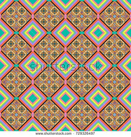ndebele pattern vector retro colors tribal vector seamless ndebele stock vector