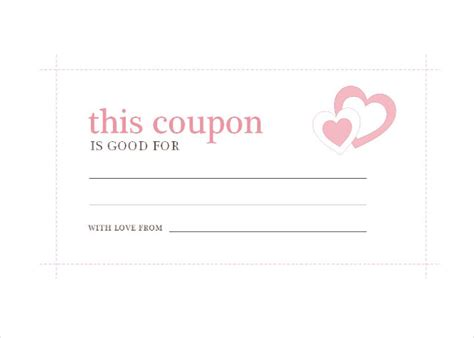 printable iou coupon template