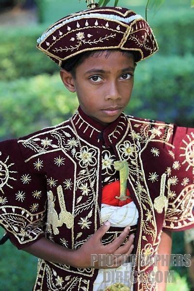 sri lankan boy traditional sri lankan dress stock photo
