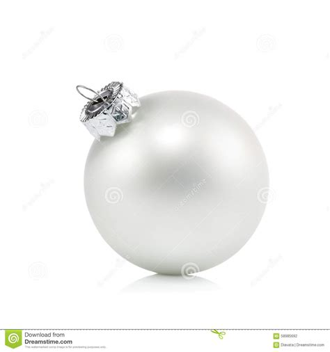 pearl white christmas ball ornament stock photo image