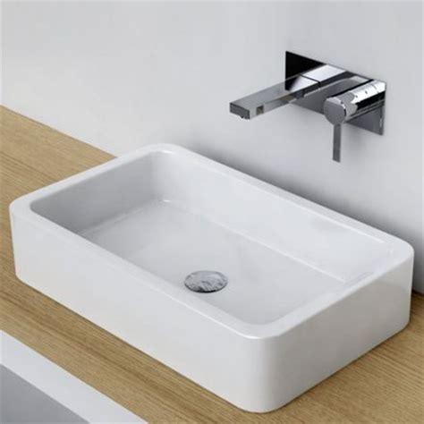 vasque  poser rectangulaire  cm ceramique pure