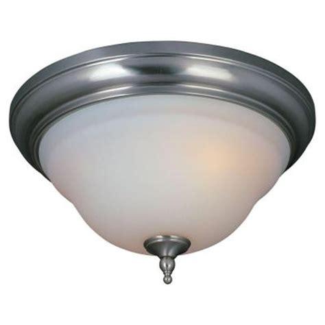 world imports 3 light flush mount satin nickel ceiling light