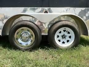 Trailer Tire Hub 2 15 Quot 2pc 5x4 5 Quot Bp Chrome Trailer Wheel Hub Cap