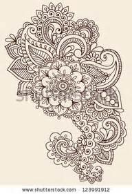 henna mandala flower tattoo design