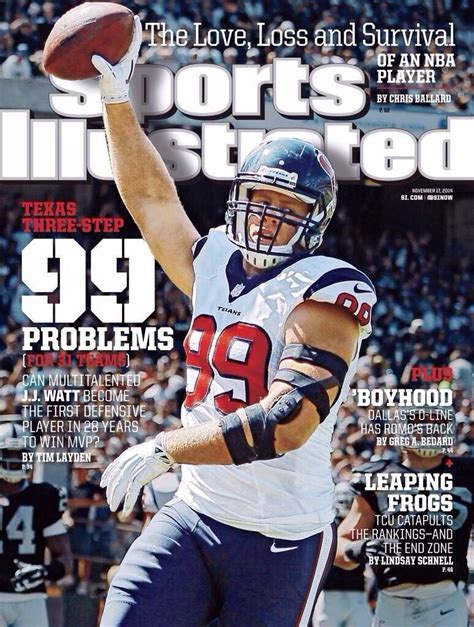 Sports Covers by J J Watt On Cover Of Sports Illustrated Espn The