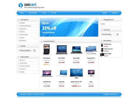 download template toko online opencart sancart premium template for opencart