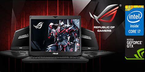 daftar harga  spesifikasi laptop asus rog gaming series