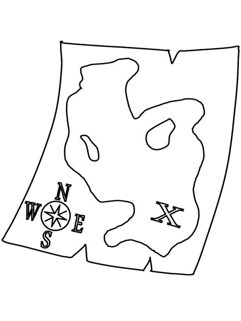 Treasure Map Coloring Pages Coloring Home Map Coloring Pages