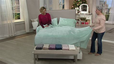 velvet soft cozy sheet sets full size berkshire blanket velvet soft solid cozy sheet set on qvc