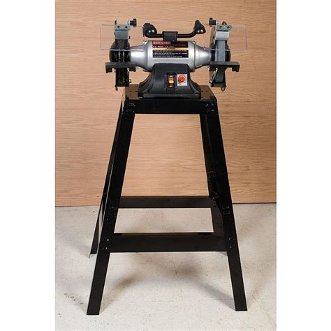 craftsman 8 bench grinder craftsman 21193 8 in variable speed bench grinder with stand sears outlet