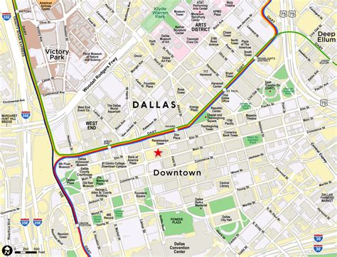 texas map downtown paw technologies downtown dallas