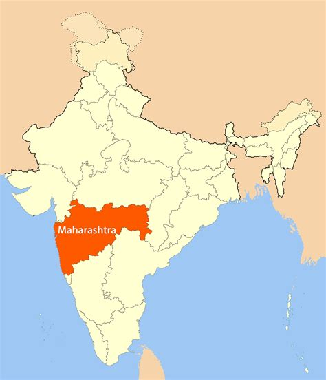 Address Map Location Map Of Maharashtra Mapsof Net