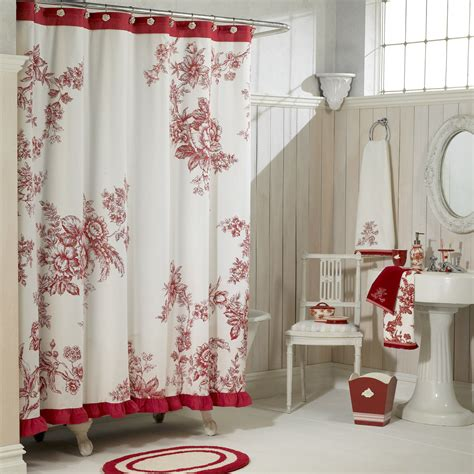 country bathroom shower curtains country living classic vintage shower curtain