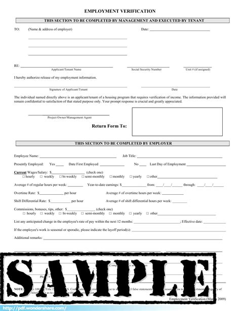 free employment verification form template employmetn verification form create fill and