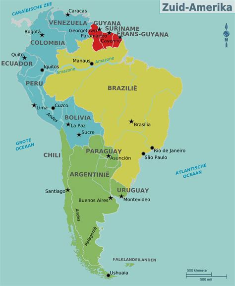 picture of south america map