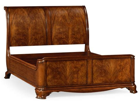 sleigh beds king king size walnut sleigh bed