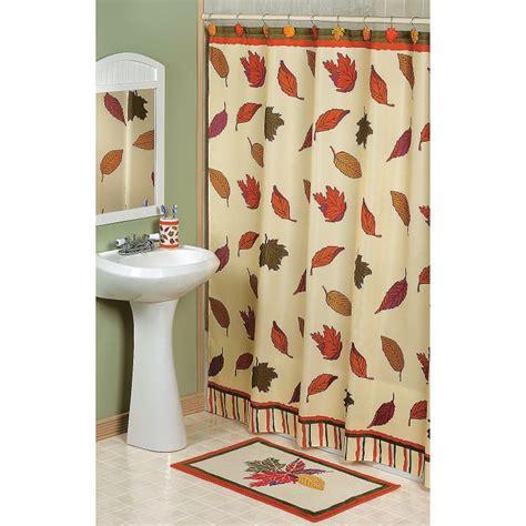 fall leaves shower curtain terrysvillage com