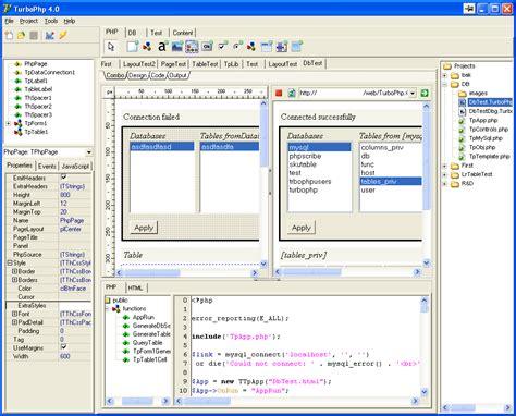 web design visual editor turbophp home