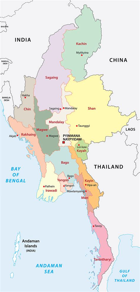 myanmar physical map myanmar map physical outline political blank