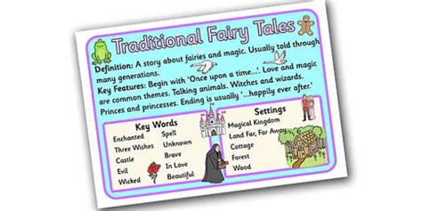 theme definition ks2 story genres traditional fairy tale display poster story