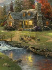 beautiful painting of a cabin i like