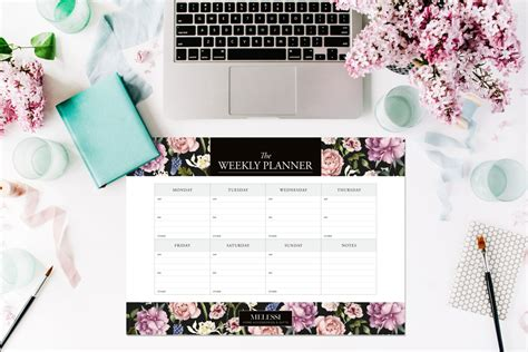 a3 desk planner pad a3 floral planner weekly planner pad desk planner desk