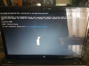 hp com go techcenter startup fan how to fix the hp laptop error the system has detected