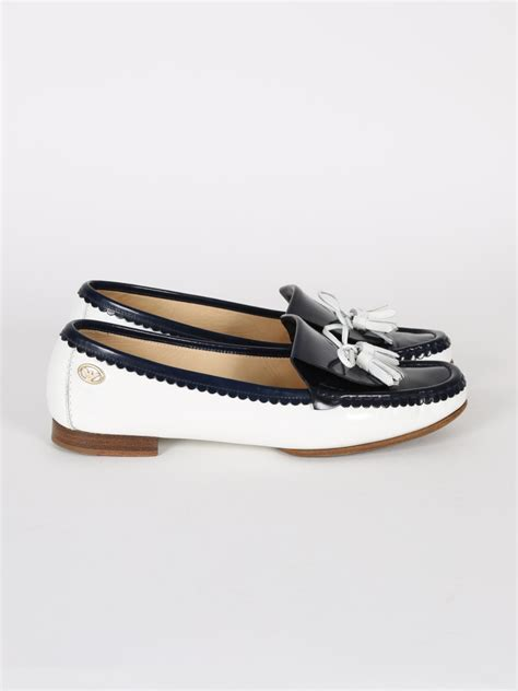 blue and white loafers emporio armani blue and white patent loafers 39 luxury