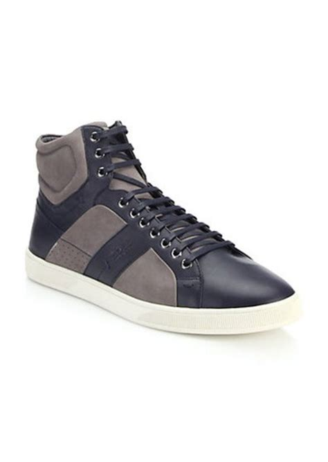 hugo high top sneakers hugo hugo acron leather suede high top