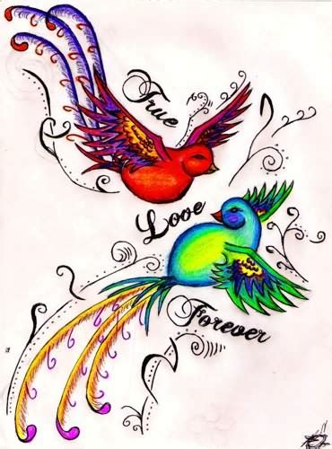 true love tattoo design true bird