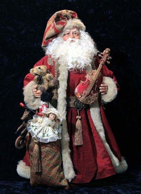 Handcrafted Santas - 208 best images about world santas on