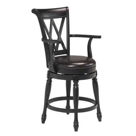 bar stools traditional home styles traditional swivel bar stool in black