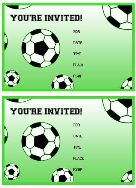 printable birthday cards soccer free printable soccer birthday party invitations from