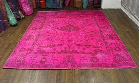 Pink Area Rugs 8x10 New In Stock 8x10 Pink Overdyed Rug