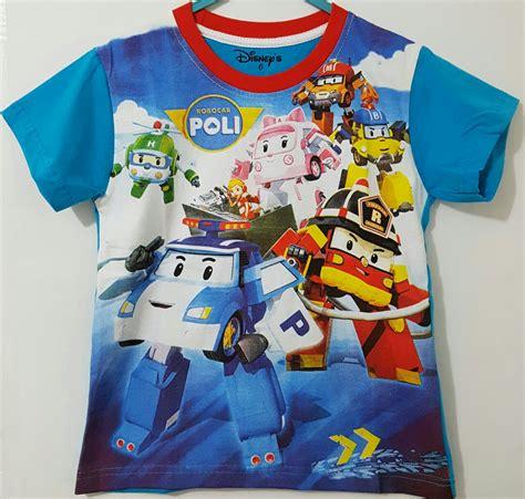 Kaos Anak Robocar Poli 07 kaos robocar poli biru 1 6 disney grosir eceran baju