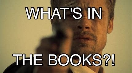Whats In The Box Meme - meme creator what s in the books meme generator at