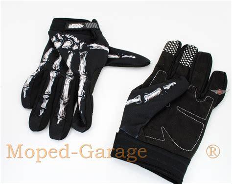 Motorradhandschuhe Skull by Moped Garage Net Mofa Moped Motorrad Handschuhe Bone