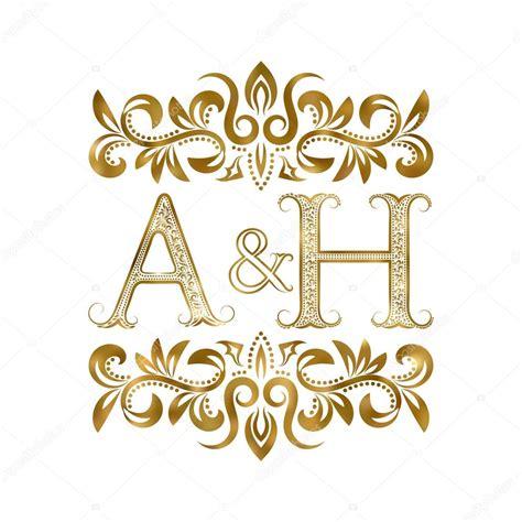 A H A a h iniciais vintage logo simbolo vetores de stock