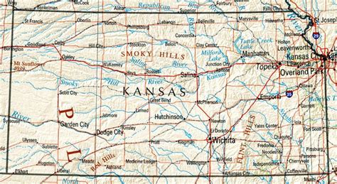 kansas state map kansas reference map